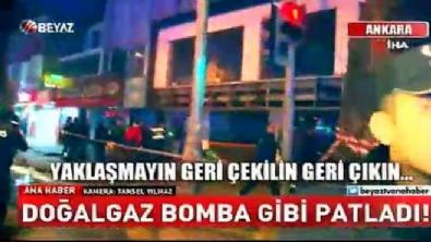 Ankara'da doğal gaz hattında patlama