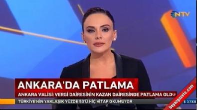 Ankara Çukurambar Vergi Dairesinde doğalgaz patlaması