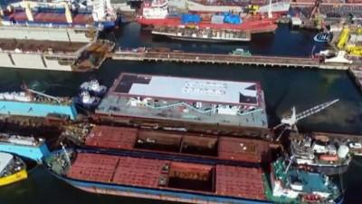 2008 yili -  Karaköy'ün yeni akıllı yüzer iskelesi havadan görüntülendi