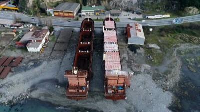 2008 yili -  Havadan görüntülenen ve 11 yıldır kızakta bekleyen 2 gemi icradan satışa çıkarıldı
