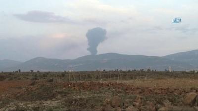 petrol rafinerisi -  Afrin'de teröristlere ait petrol rafinerisi vurularak imha edildi