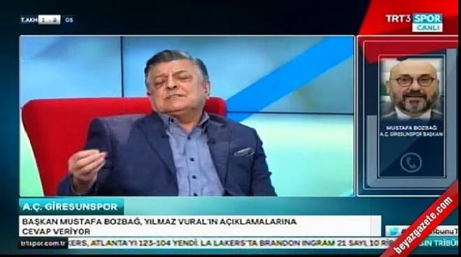 giresunspor - Yılmaz Vural canlı yayında başkanla kavga etti