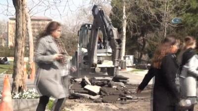 Gezi Parkı'nda çevre düzenleme çalışmaları başladı