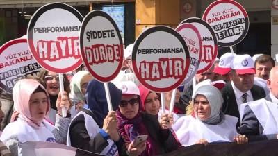 aday ogretmen - Eğitim-Bir-Sen'den Öğretmen Performans Sistemi protestosu - ANKARA