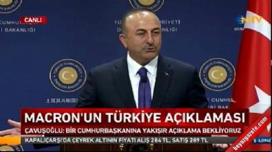 Çavuşoğlu: Cumhurbaşkanı'na yakışır açıklamalar bekliyoruz