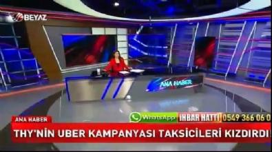 Türk Hava Yolları'nın UBER kampanyasına taksiciler tepkili