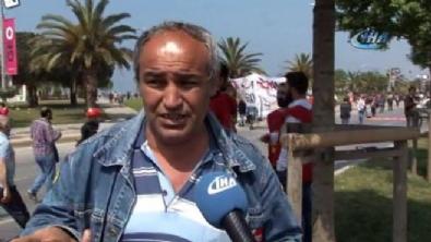1 Mayıs'ta çalışan işçiler dikkat çekti