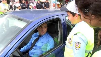 yaya gecidi - Başkent trafiğini çocuk polisler denetledi - ANKARA