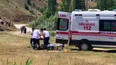ambulans helikopter - Yaylada yaralanan epilepsi hastası helikopterle taşındı - KONYA
