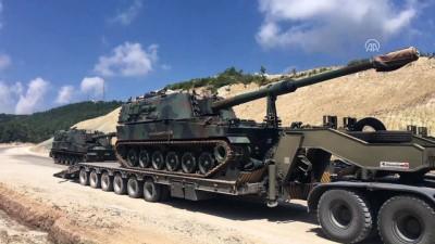 firtina obusu - Suriye sınırına askeri sevkiyat - HATAY