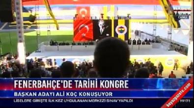 Fenerbahçe kongresinde gerginlik: Aziz Yıldırım yerinden fırladı
