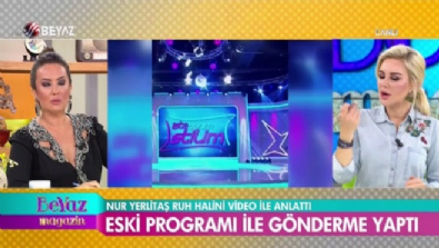 Nur Yerlitaş, eski programı ile gönderme yaptı