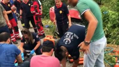 Bartın'da otomobille tır çarpıştı: 4 yaralı