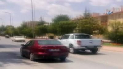 arac plakasi -  Trafikte geri geri giden araç sürücü cezadan kaçamadı