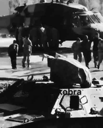 Operasyondan dönen askerlerin görüntüsü