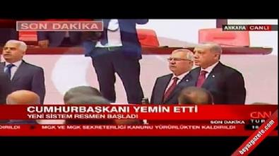 Başkanlık yemininden sonra HDP'li milletvekilleri İstiklal Marşı'nı okumadı