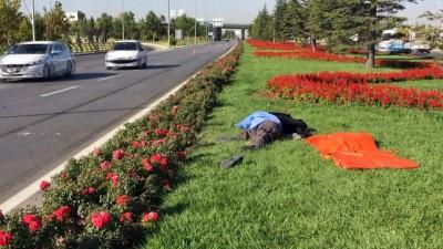 Refüjdeki çiçekleri sulamak istedi... Otomobilin çarpması sonucu hayatını kaybetti