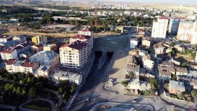 karayolu tuneli -  Sivas'ın ilk karayolu tünelinde bayram yoğunluğu...Mevlana Tüneli havadan görüntülendi
