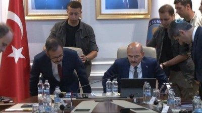 il emniyet mudurleri - Bakan Soylu ile Bakan Kasapoğlu'ndan spor güvenliği toplantısı