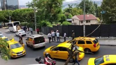 Taksim'in göbeğinde İranlı turistleri gasp eden taksici kaçtı iddiası... Yaşananlar kameraya böyle yansıdı