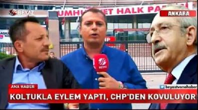 Koltukla eylem yapan CHP'li ihraç ediliyor