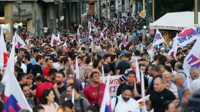 kurtarma paketi - Yunanistan'da 'kemer sıkma' karşıtı gösteri - ATİNA