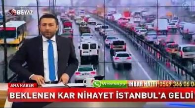 Beklenen kar İstanbul'a geldi