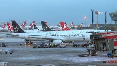 ataturk -  Uçaklar buzlanmaya karşı alkol ile yıkanıyor