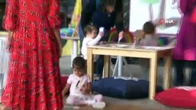 Karesi'de çocuklar doyasıya eğlendi