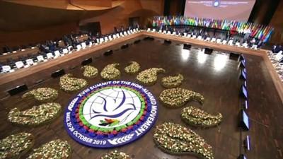 - Dışişleri Bakanı Çavuşoğlu, Azerbaycan'da Bağlantısızlar Hareketi 18. Zirvesi'ne katıldı