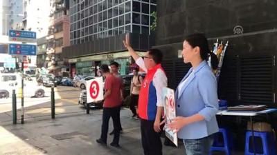 Protestoların başlamasının ardından ilk seçime hazırlanıyor - HONG KONG