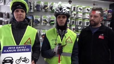 engelliler yasami -  Görme engelli genç 35 kilometre pedal çevirdi