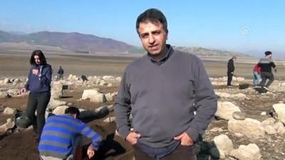 Baraj suyu çekilince höyük yeniden ortaya çıktı - GAZİANTEP