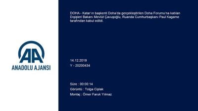 Çavuşoğlu, Ruanda Cumhurbaşkanı Kagame tarafından kabul edildi - DOHA
