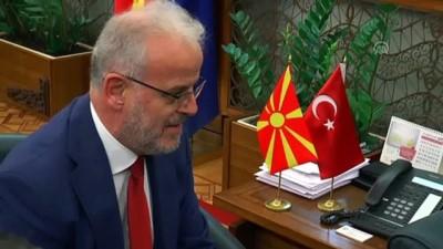 etnik koken - TBMM Başkanı Şentop, Kuzey Makedonya Meclis Başkanı Caferi ile görüştü - ÜSKÜP