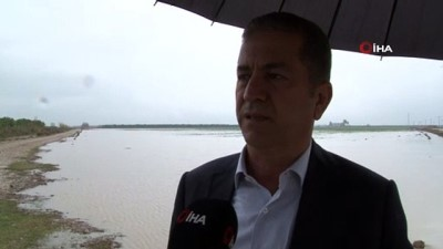 yagmurdan sonra -  Adana'da tarım arazileri sular altında kaldı