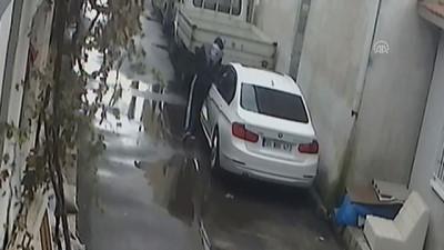 Araçlardan hırsızlık yapan zanlı güvenlik kamerasına takıldı - İZMİR