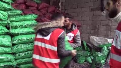 komur yardimi - Türk Kızılay kara kışta ihtiyaç sahiplerinin yardımına koşuyor - AĞRI