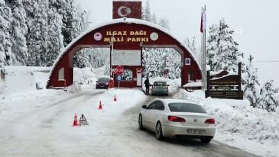 kar kureme araci - Ilgaz Dağı'nda kayak sezonu başladı - KASTAMONU