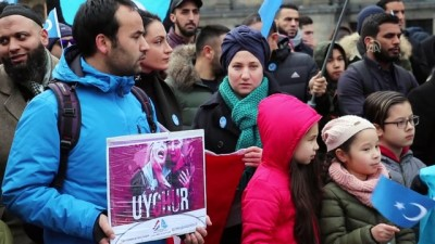 etnik koken - Hollanda'da Doğu Türkistan protestosu - AMSTERDAM