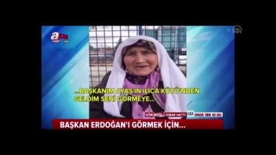 Erdoğan, 83 yaşındaki Meliha Nine ile bir araya geldi - İSTANBUL