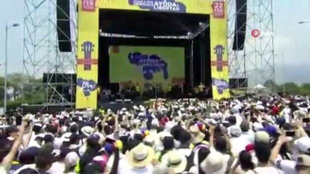 venezuela -  - Tartışmalı 'Venezuela Yardım Konseri' başladı