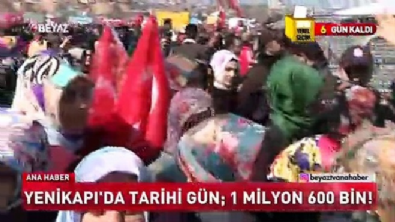 Yenikapı'da tarihi gün: 1 milyon 600 bin