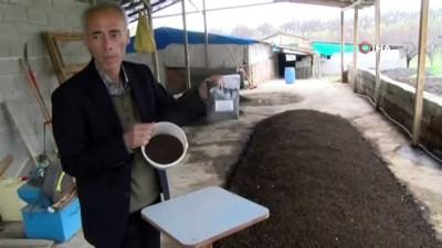 solucan gubresi -  Çamurdan organik gübre üretti