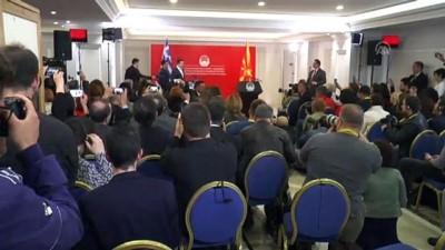 ticaret isbirligi - Aleksis Çipras - Zoran Zaev ortak basın toplantısı - ÜSKÜP