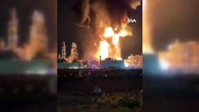 petrol rafinerisi -  - Kuveyt'te Petrol Rafinerisinde Yangın Çıktı