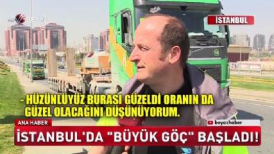 İstanbul'da büyük göç başladı