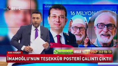 İmamoğlu'nun teşekkür posteri çalıntı çıktı