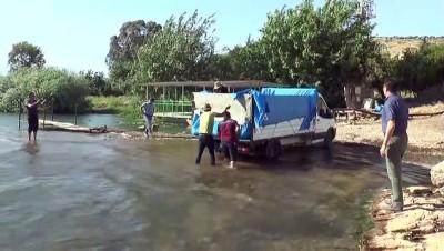 golbasi - Hatay'da kuruyan derelerdeki balıklar kurtarıldı