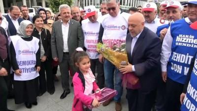 """adalet yuruyusu -  Hak-İş Genel Başkanı Mahmut Arslan: """"Bolu'dan Ankara'ya yürüyüş planlıyoruz"""""""